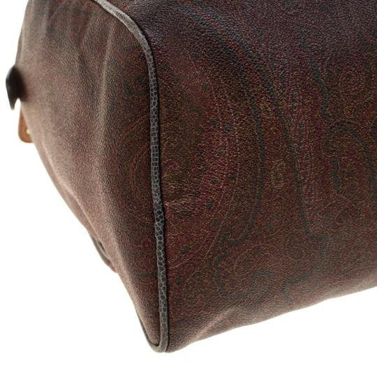 Etro Paisley Canvas Satchel in Brown Image 9