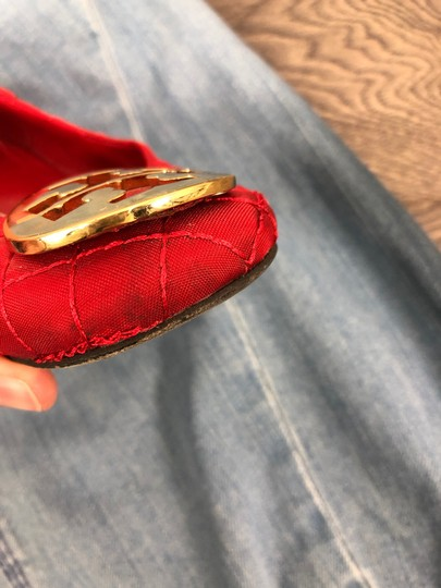 Tory Burch Red Flats Image 4