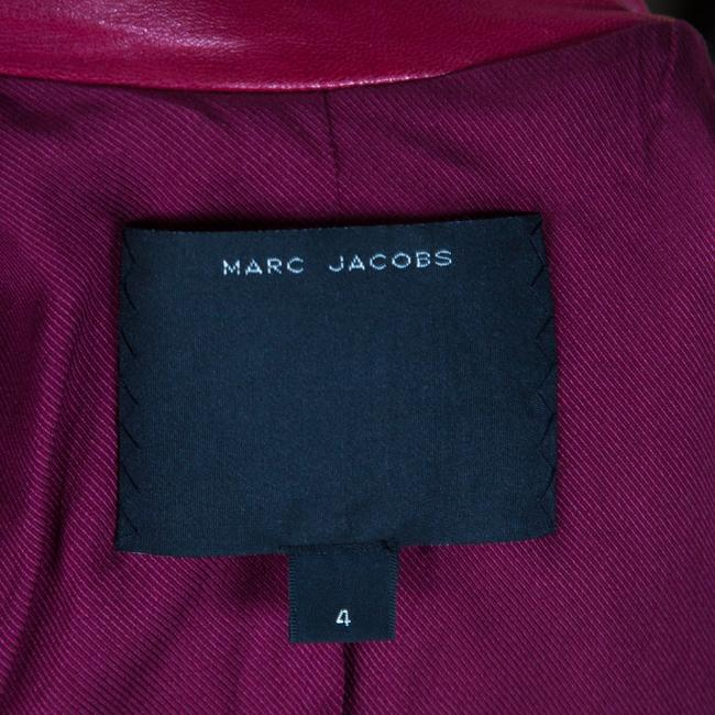Marc Jacobs Leather Quilted Shoulder Red Womens Jean Jacket Image 4