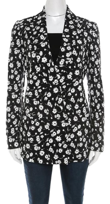 Preload https://img-static.tradesy.com/item/26161885/dolce-and-gabbana-black-dolce-and-gabbana-and-white-floral-printed-crepe-tailored-blazer-size-6-s-0-1-650-650.jpg