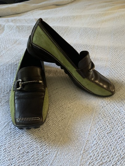 Sesto Meucci Driving Moccasin Leather Size 6.5 Green and black Flats Image 2