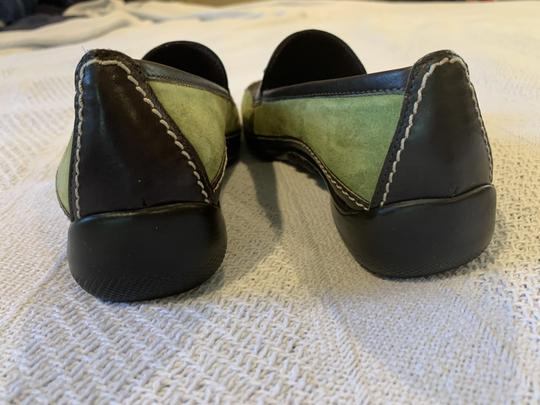 Sesto Meucci Driving Moccasin Leather Size 6.5 Green and black Flats Image 3
