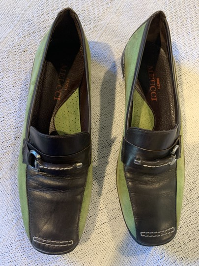 Sesto Meucci Driving Moccasin Leather Size 6.5 Green and black Flats Image 4