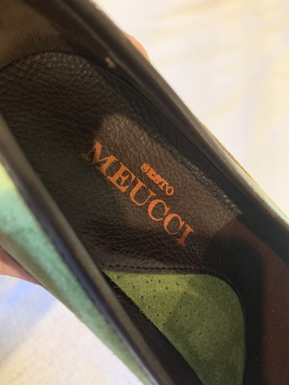 Sesto Meucci Driving Moccasin Leather Size 6.5 Green and black Flats Image 5