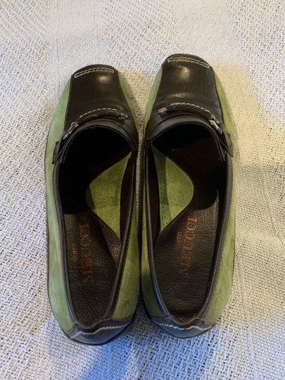 Sesto Meucci Driving Moccasin Leather Size 6.5 Green and black Flats Image 6