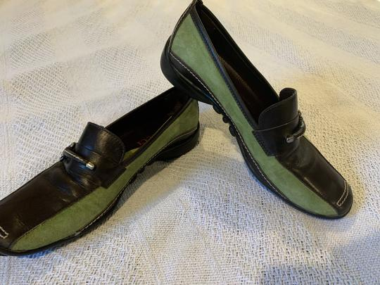 Sesto Meucci Driving Moccasin Leather Size 6.5 Green and black Flats Image 8
