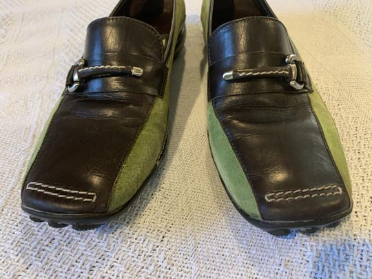 Sesto Meucci Driving Moccasin Leather Size 6.5 Green and black Flats Image 9