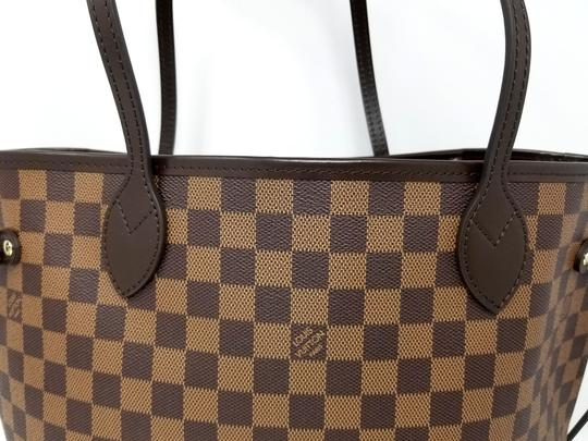 Louis Vuitton Lv Shoulder Neverful Damier Ebene Tote in Brown,Red Image 6