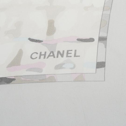 Chanel CHANEL CC Logos XL JUMBO Scarf 100% Silk Gray Made In Italy Image 6