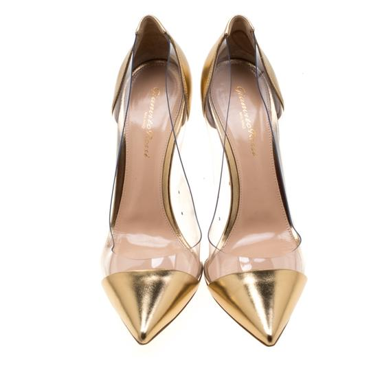 Gianvito Rossi Leather Pvc Gold Pumps Image 1