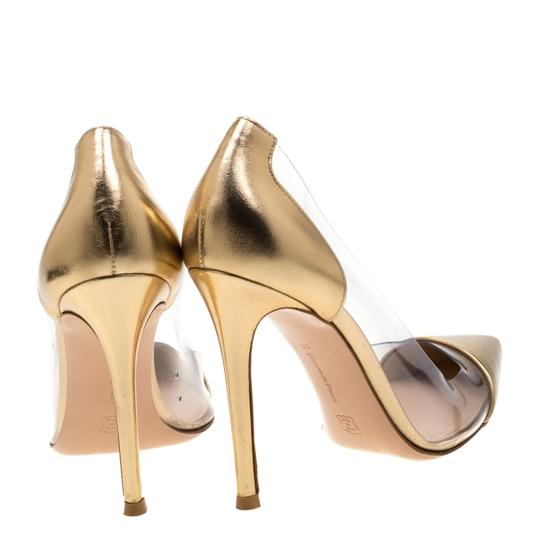 Gianvito Rossi Leather Pvc Gold Pumps Image 2