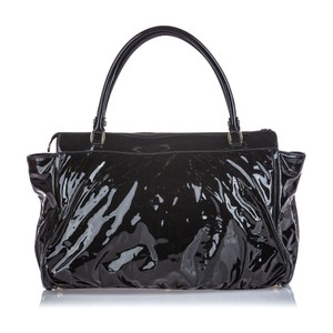 Gucci 9cguhb098 Vintage Patent Leather Shoulder Bag