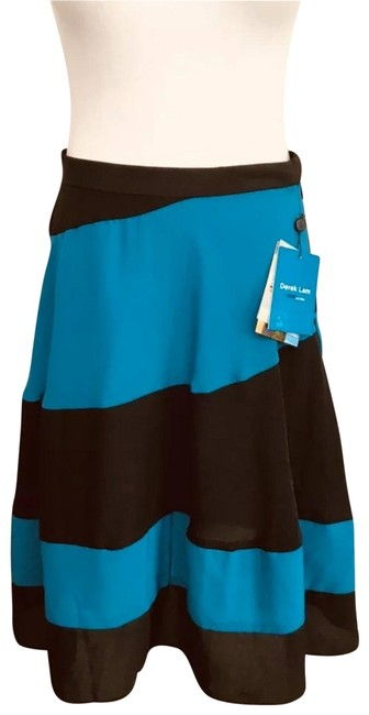 Preload https://img-static.tradesy.com/item/26161940/derek-lam-teal-blue-black-a-line-stripped-officecasual-skirt-size-4-s-27-0-1-650-650.jpg