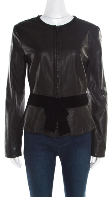 Preload https://img-static.tradesy.com/item/26161942/emporio-armani-black-leather-velvet-bow-detail-biker-jacket-size-10-m-0-1-650-650.jpg