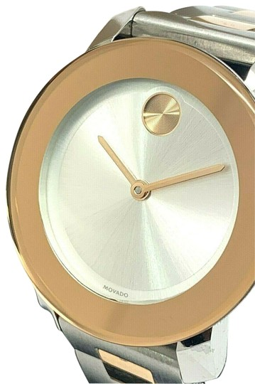 Preload https://img-static.tradesy.com/item/26161945/two-tone-bold-3600464-women-s-silver-dial-rose-gold-watch-0-1-540-540.jpg