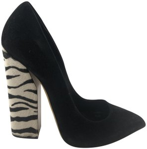 Casadei Zebra Pointed Toe Black suede Boots