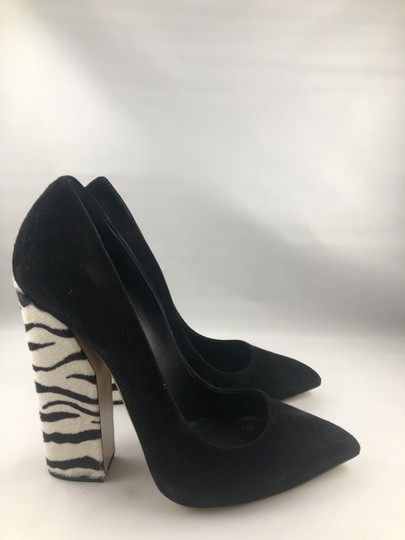 Casadei Zebra Pointed Toe Black suede Boots Image 9
