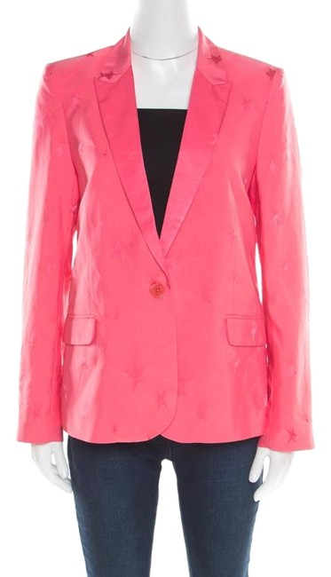 Preload https://img-static.tradesy.com/item/26161952/zadig-and-voltaire-pink-victor-star-jacquard-tailored-blazer-m-jacket-size-10-m-0-1-650-650.jpg