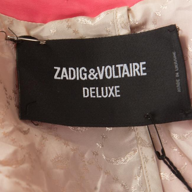 Zadig & Voltaire Jacquard Pink Womens Jean Jacket Image 4