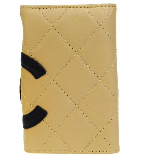 Chanel CHANEL CC Logo Quilted Cambon Six Hooks Key Case Leather Beige Image 2
