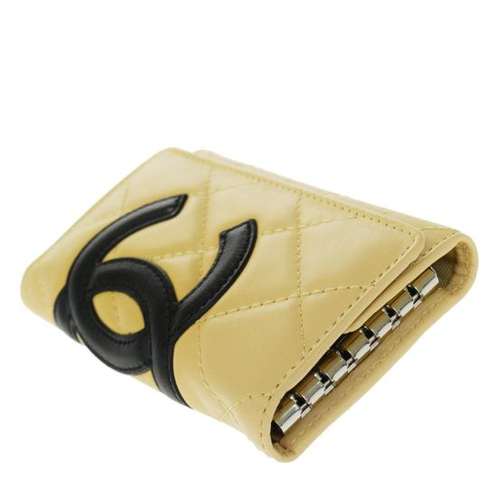 Chanel CHANEL CC Logo Quilted Cambon Six Hooks Key Case Leather Beige Image 4