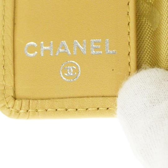 Chanel CHANEL CC Logo Quilted Cambon Six Hooks Key Case Leather Beige Image 9