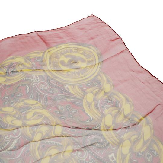 Chanel CHANEL Logos Long Muffler Scarf 100% Silk Red Italy Accessory Image 6