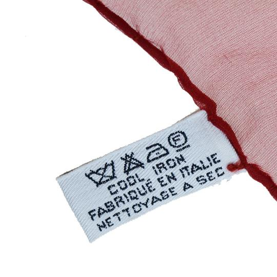 Chanel CHANEL Logos Long Muffler Scarf 100% Silk Red Italy Accessory Image 8