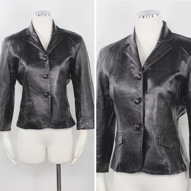 Other Made In Usa Leather Jacket 3/4 Sleeves Brown Blazer Image 1