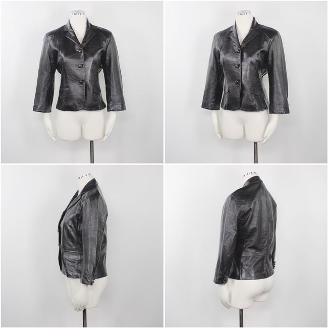Other Made In Usa Leather Jacket 3/4 Sleeves Brown Blazer Image 2