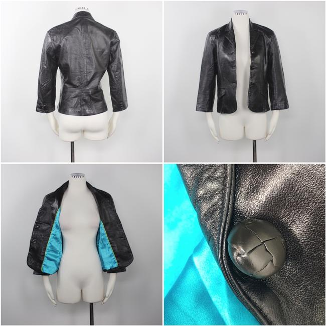 Other Made In Usa Leather Jacket 3/4 Sleeves Brown Blazer Image 3