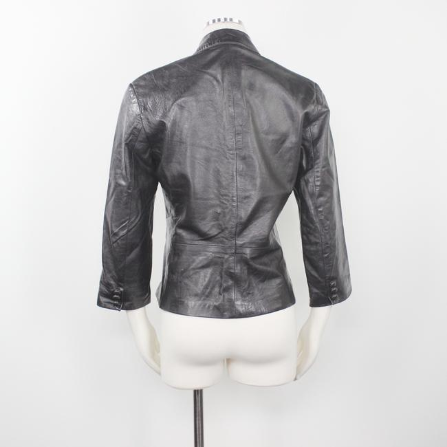 Other Made In Usa Leather Jacket 3/4 Sleeves Brown Blazer Image 6