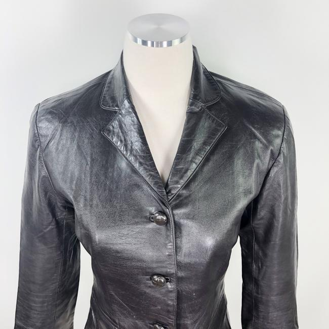 Other Made In Usa Leather Jacket 3/4 Sleeves Brown Blazer Image 8