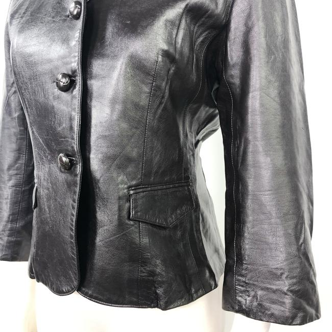 Other Made In Usa Leather Jacket 3/4 Sleeves Brown Blazer Image 9