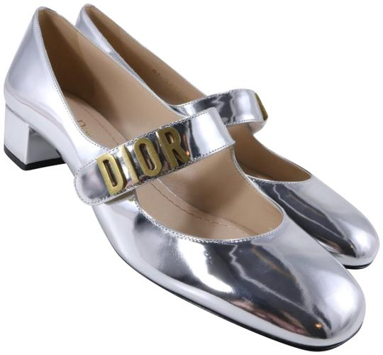 Preload https://img-static.tradesy.com/item/26161990/dior-silver-baby-d-mirror-finish-gold-logo-metallic-strap-heels-c221-pumps-size-eu-40-approx-us-10-r-0-1-540-540.jpg