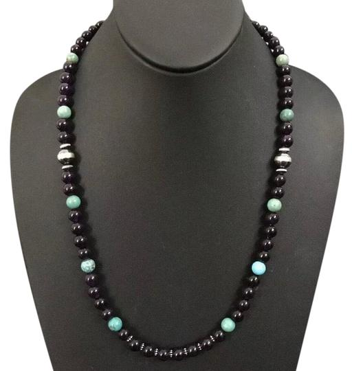 Preload https://img-static.tradesy.com/item/26161991/amethyst-with-turquoise-sterling-silver-necklace-0-1-540-540.jpg