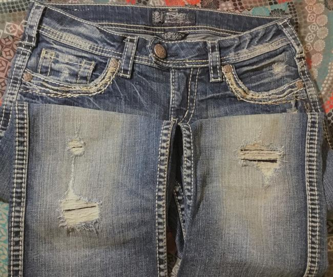 Silver Jeans Co. Boot Cut Jeans-Distressed Image 4