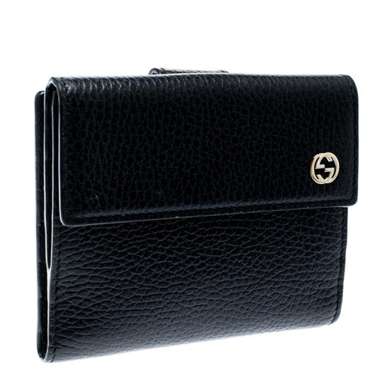 Gucci Black Leather Double G Wallet Image 2