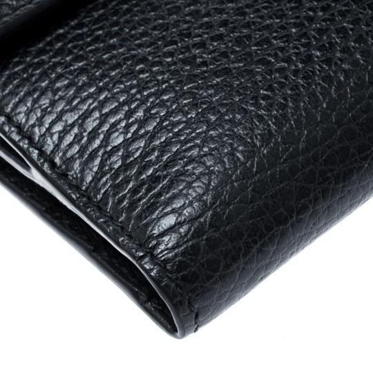 Gucci Black Leather Double G Wallet Image 9