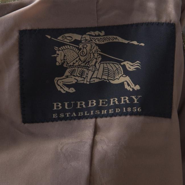 Burberry Metallic Gold Textured Cut Out Edge Detail Double Breasted Jacket M Image 3