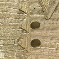 Burberry Metallic Gold Textured Cut Out Edge Detail Double Breasted Jacket M Image 5