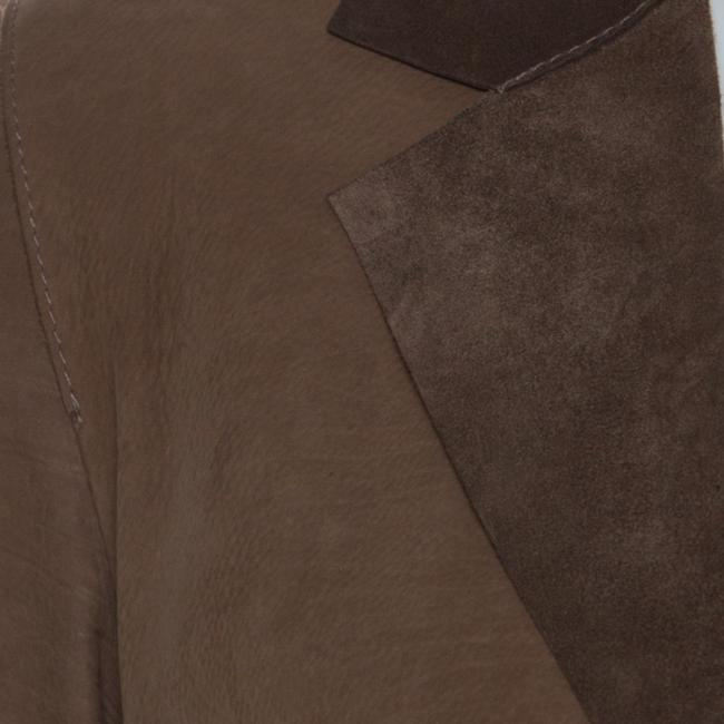 Marni Leather Open Front Brown Blazer Image 4