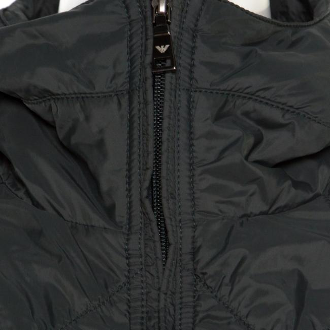 Emporio Armani Diamond Quilted Contrast Hooded Green Womens Jean Jacket Image 3