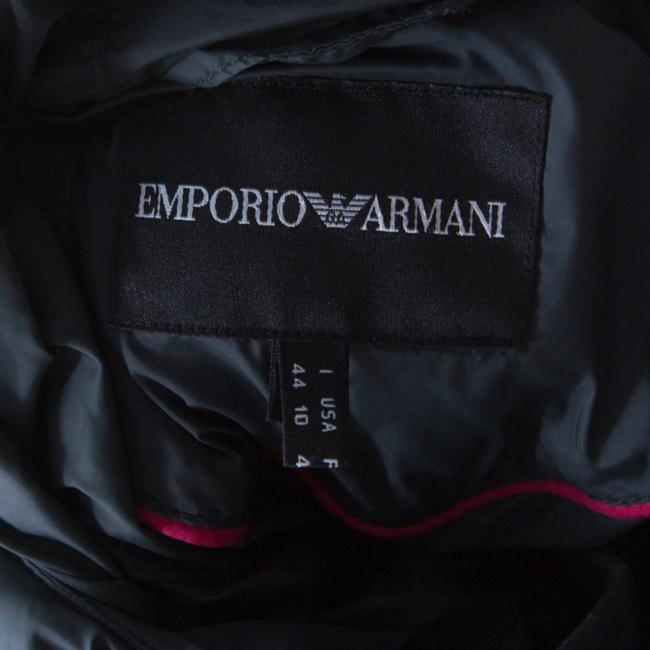 Emporio Armani Diamond Quilted Contrast Hooded Green Womens Jean Jacket Image 4