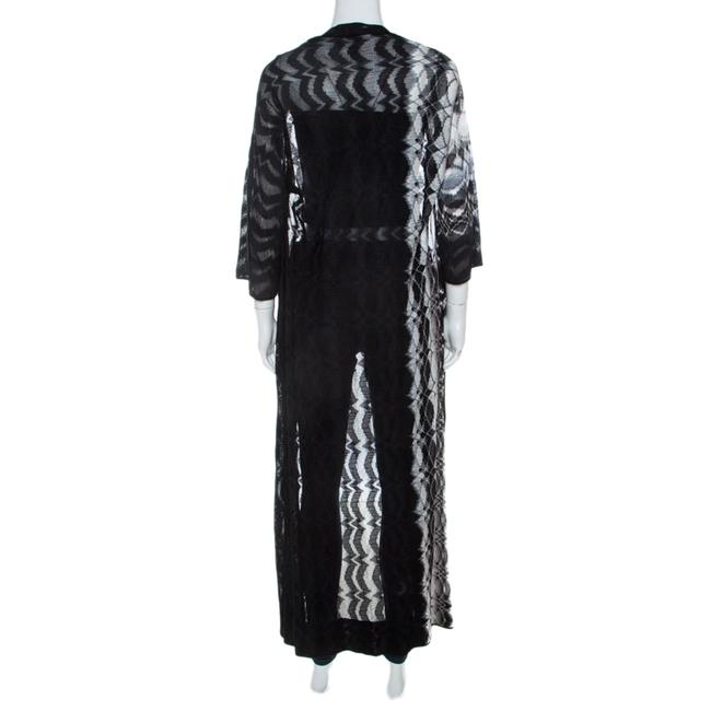 Missoni Missoni Monochrome Perforated Knit Open Front Beach Cover Up S Image 1
