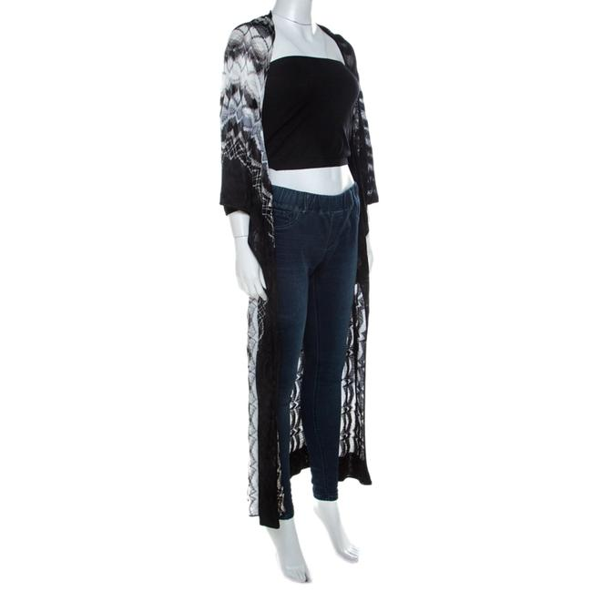 Missoni Missoni Monochrome Perforated Knit Open Front Beach Cover Up S Image 2