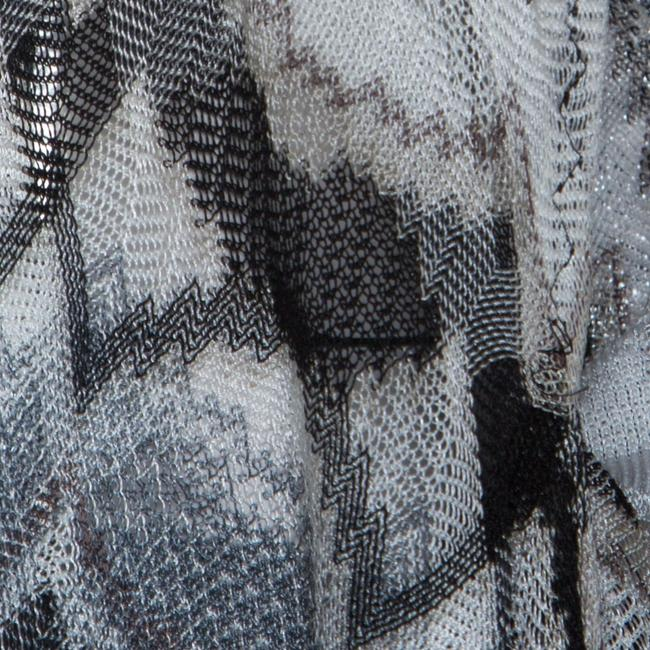 Missoni Missoni Monochrome Perforated Knit Open Front Beach Cover Up S Image 5