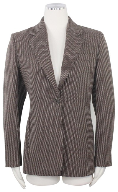 Preload https://img-static.tradesy.com/item/26162115/max-mara-brown-cashmere-tweed-button-front-tailored-long-blazer-size-8-m-0-1-650-650.jpg