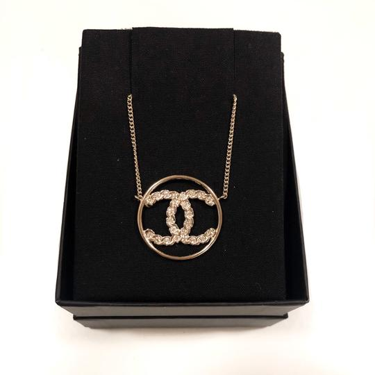 Chanel 2019 CC Logo Rounded Crystals GHW Image 2
