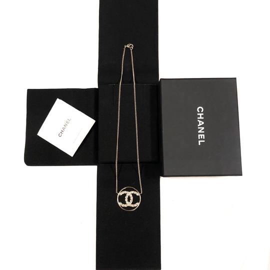 Chanel 2019 CC Logo Rounded Crystals GHW Image 3